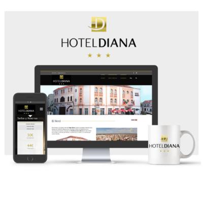 DISEÑO WEB HOTEL DIANA VILLAFRANCA