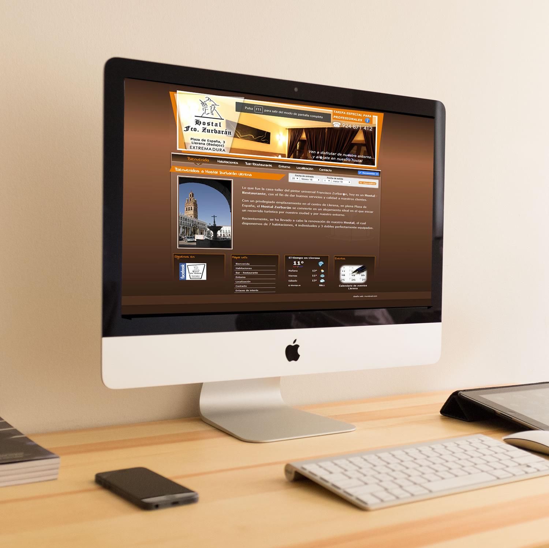 Diseño Web Hostal Zurbarán