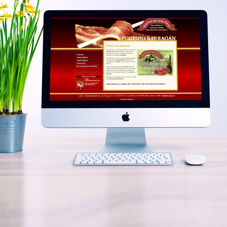 Diseño Web Jamones y Embutidos Eugenio Barragán