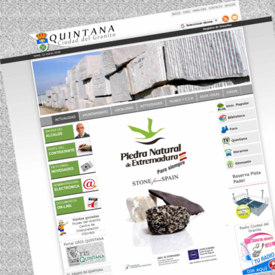 DISEÑO WEB AYTO. DE QUINTANA DE LA SERENA