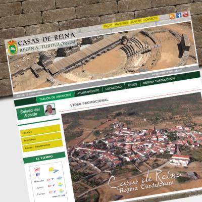 DISEÑO WEB AYTO CASAS DE REINA