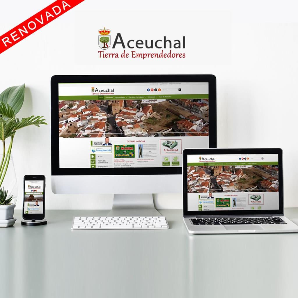 DISEÑO WEB AYUNTAMIENTO ACEUCHAL