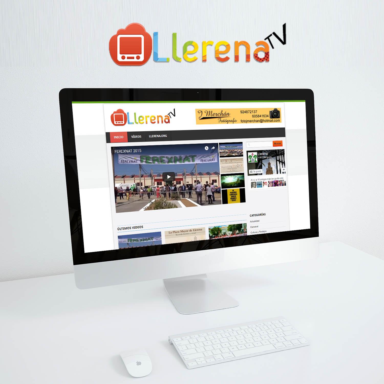 DISEÑO WEB LLERENA TV