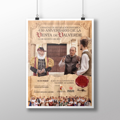 Cartel del 430 Aniversario de la venta de Valverde