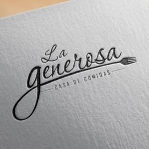 Diseño de logotipo para La Generosa - Casa de Comidas