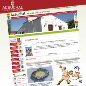 DISEÑO WEB PORTAL AYUNTAMIENTO DE ACEUCHAL