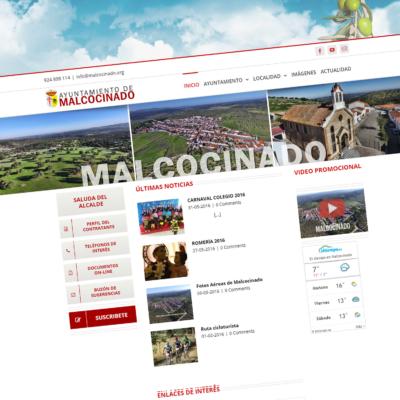 DISEÑO WEB PORTAL DEL AYTO. DE MALCOCINADO