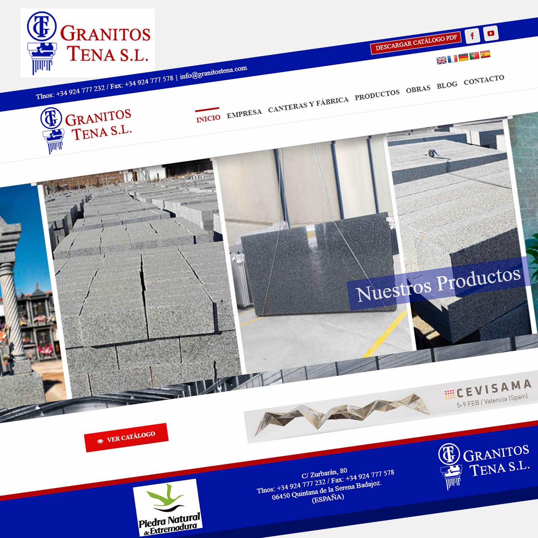 DISEÑO WEB GRANITOS TENA