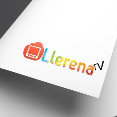 Diseño de logotipo Llerena TV
