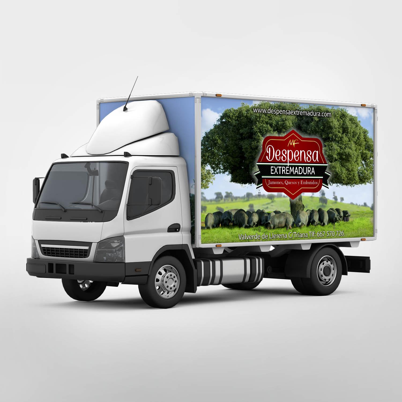 Diseño Logotipo y Serigrafía Camión