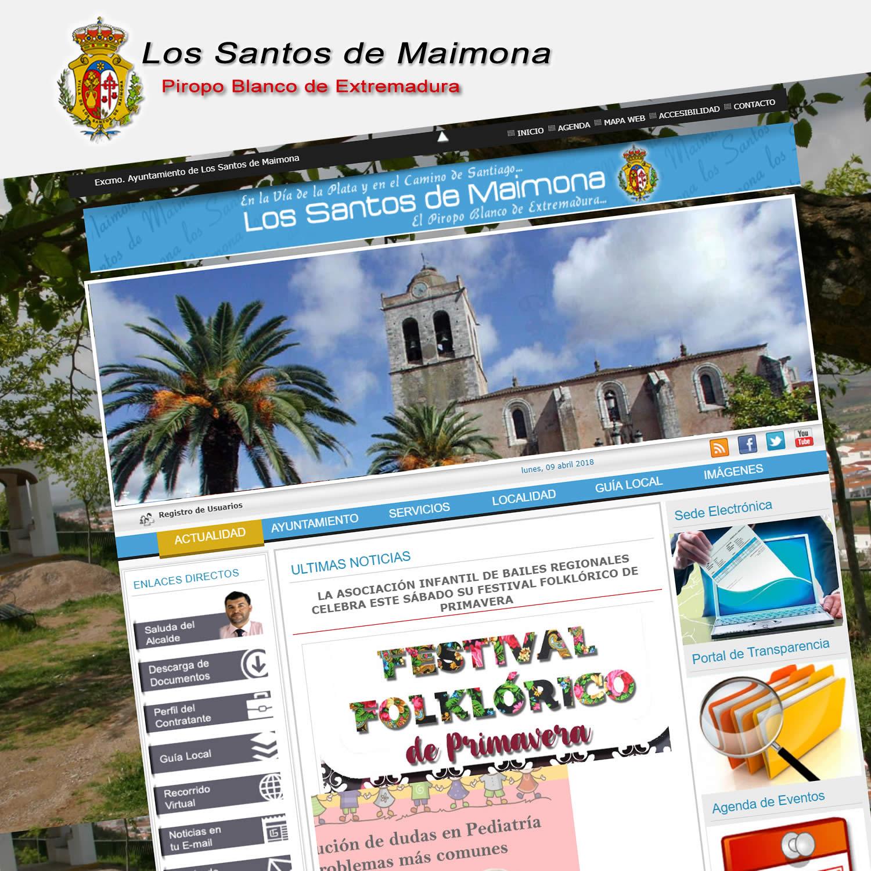 Diseño Web Ayuntamiento de Los Santos de Maimona