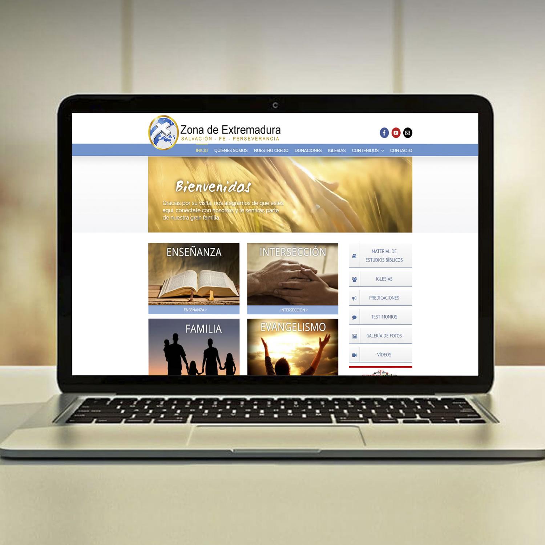 Diseño Web Empresa Zona de Extremadura